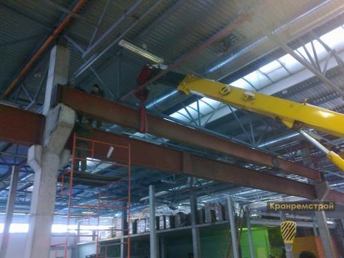 Монтаж металлоконструкций кранового пути