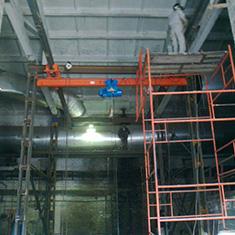 Монтаж крановой эстакады и подвесного крана
